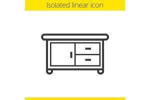 Kitchen table linear icon