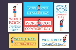 World Book and Copyright Day Banners