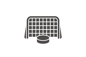 Hockey goal icon