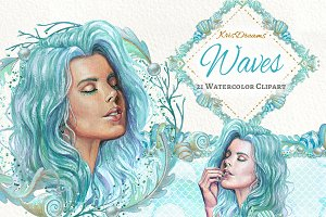 Waves Clipart Set