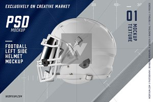 Football Helmet Left Side View