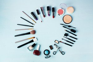 Various make-up products