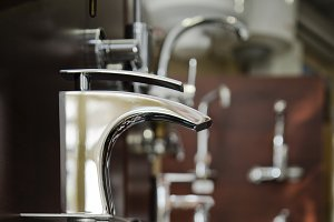 Faucets at store