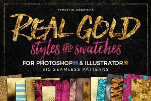 300+ Gold Glitter Foil Styles