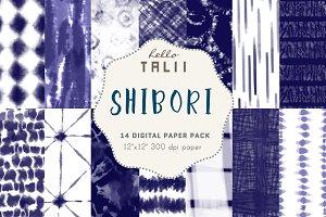 Shibori Digital Paper