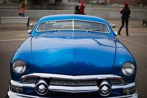 Retro Auto-blue