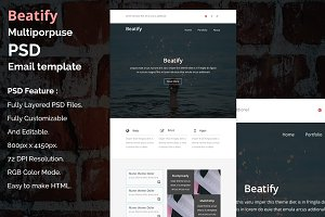 Beatify - PSD email template