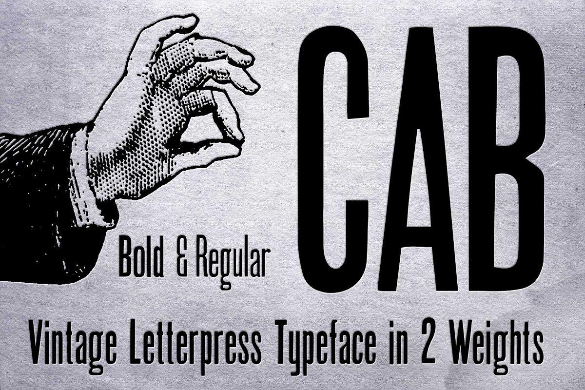 CAB Letterpress font