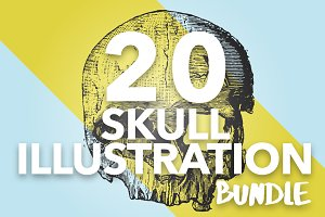 20 Vintage Skull Illustrations