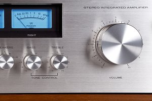 Stereo Audio Amplifier Volume Knob