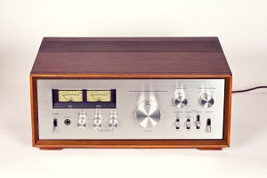 Vintage Stereo Audio Amplifier