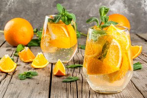 Summer refreshing orange drink