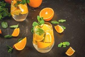 Summer refreshing orange drink
