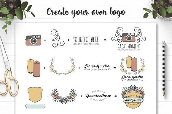 Art And Craft Logo Creator Logo Templates Creative Market