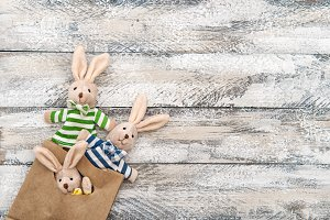 Easter decoration bunnies