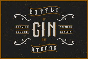 Gin label font