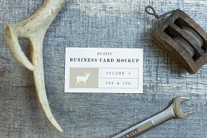 Rustic Business Card Mockup Vol. 2