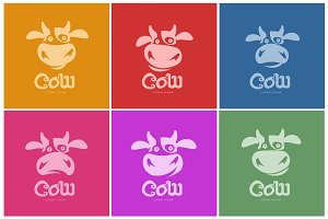 cow logo template