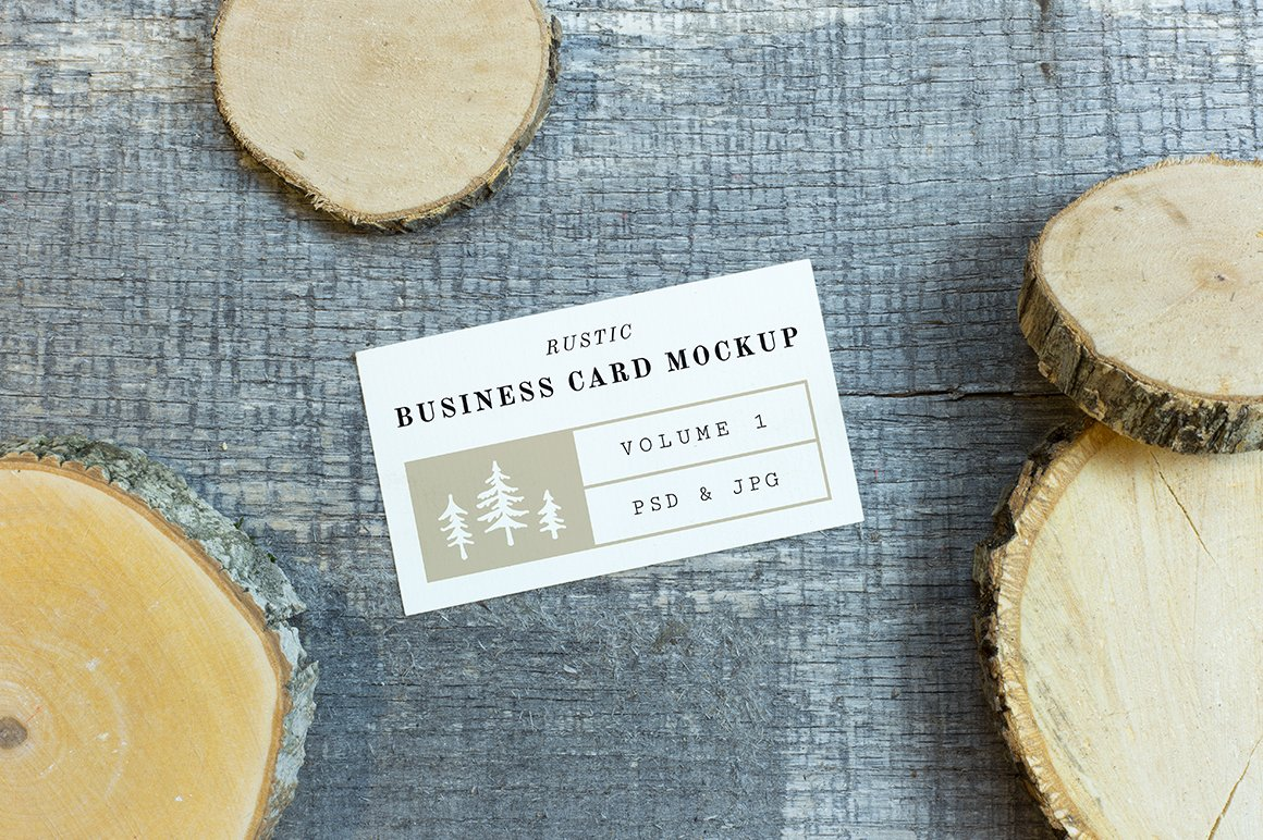 Rustic business card mockup vol 1 product mockups creative market reheart Images