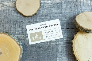 Rustic Business Card Mockup Vol. 1