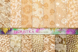 White Floral Download Patterns F-09