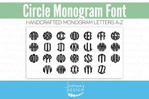 Circle Monogram Font TTF OTF