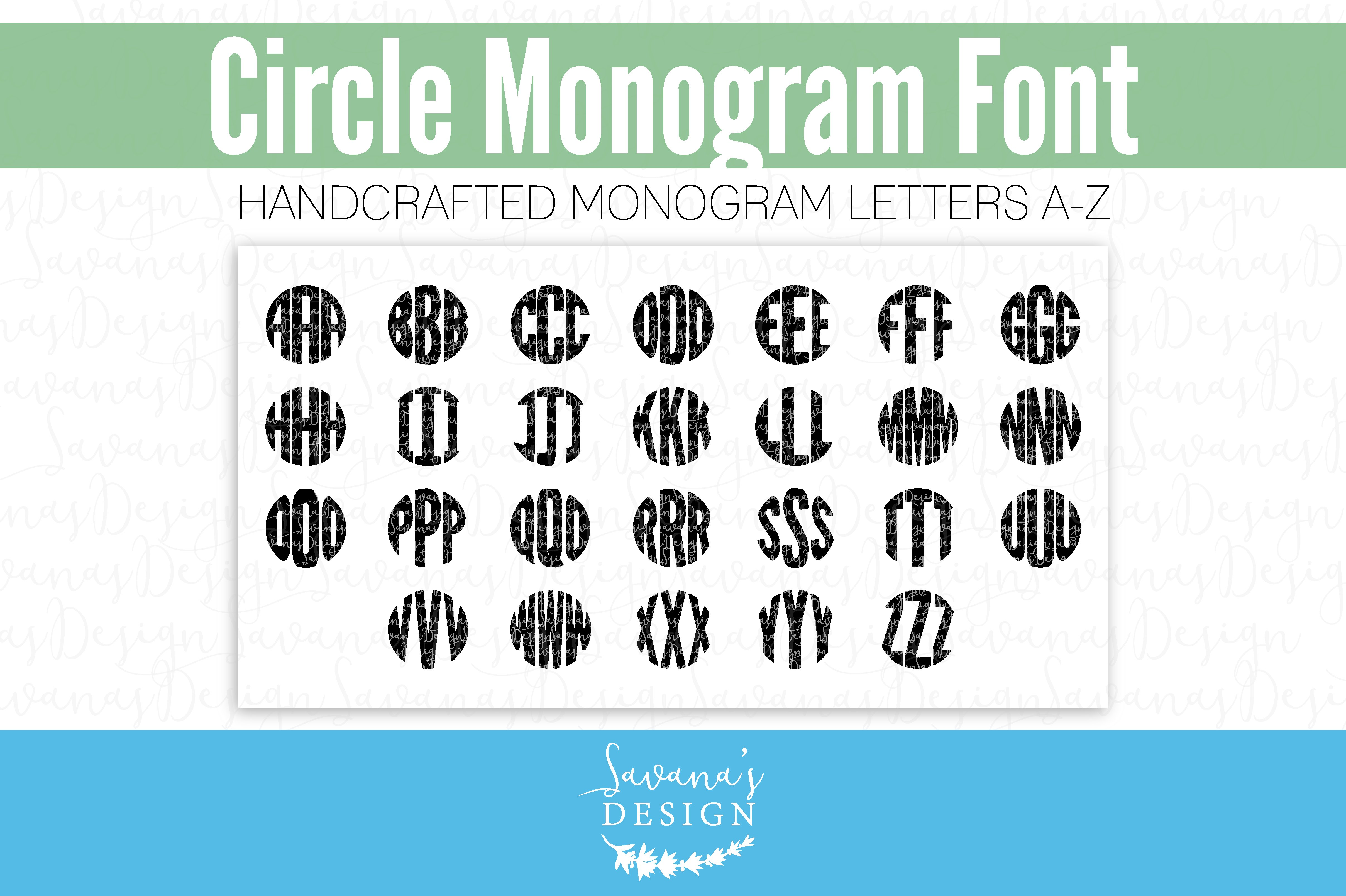 Monogram Font TTF OTF Circular ~ Display Fonts ~ Creative ...