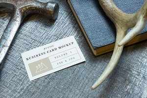 Rustic Business Card Mockup Vol. 3