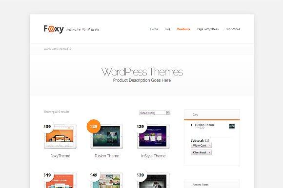 Foxy - Responsive Business Theme ~ WordPress Themes ~ Creative Market