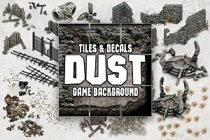 DUST 2D MAP TILES AND DECALS