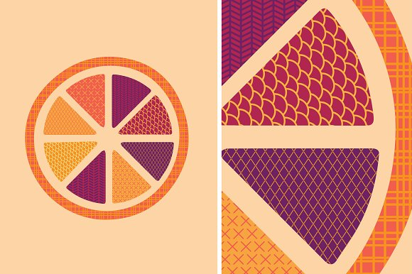 Orange Patterned Illustration
