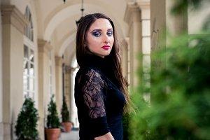 beautiful girl in black