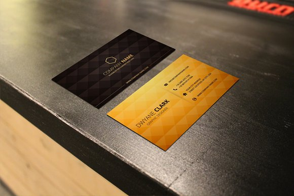 3 Business Cards Mockup Restaurant Product Mockups Creative Market