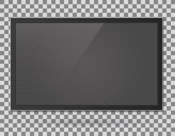 TV, modern blank screen