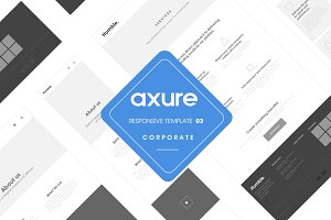 Axure responsive Corporate template3
