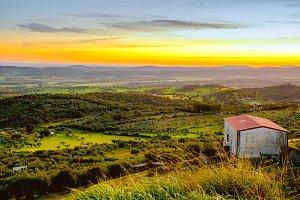 Beautiful landscape on Alburquerque