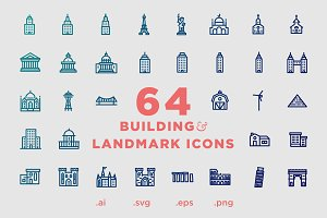 Building & Landmark Icons - 64