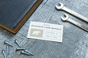 Rustic Business Card Mockup Vol. 4