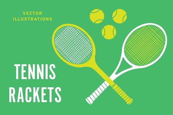 Vintage Tennis Racket & ball