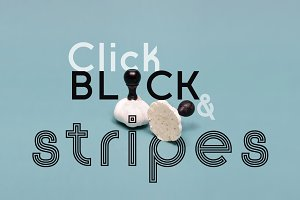 Click: Black & Stripes sale!
