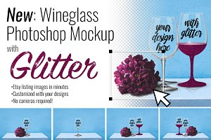 Wineglass Photoshop Mockup Creator