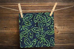 Green Jungle Batik Digital Paper