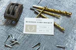 Rustic Business Card Mockup Vol. 5