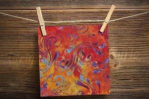 Tropical Sunset Batik Digital Paper