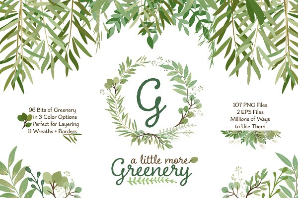 Leafy Green Botanical Clip Art