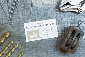 Rustic Business Card Mockup Vol. 6