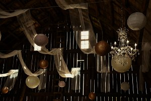 Rustic Barn Wedding in Sepia