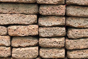 Old brick stacked