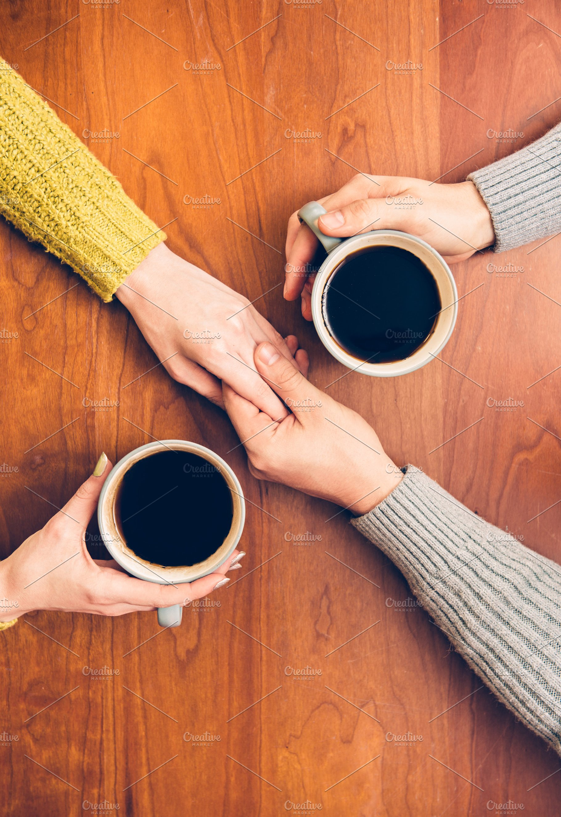 People drinking coffee together | High-Quality People Images ~ Creative Market