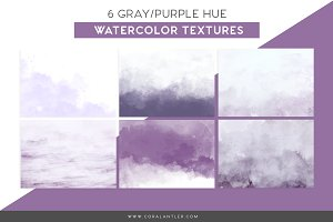 Purple Watercolor Textures